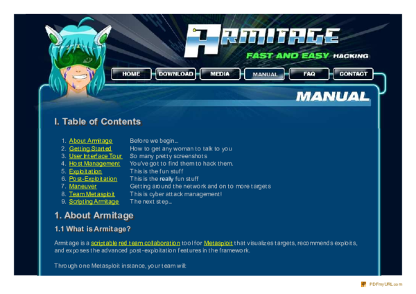 PDF) Armitage Tutorial - Cyber Attack Management for