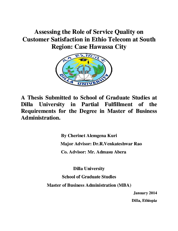 PDF) Assessing the Role of Service Quality on Customer Satisfaction