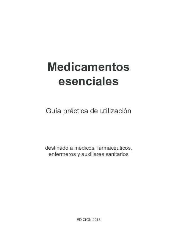 Pdf Medicamentos Esenciales Gersson Gonzalez Academia Edu