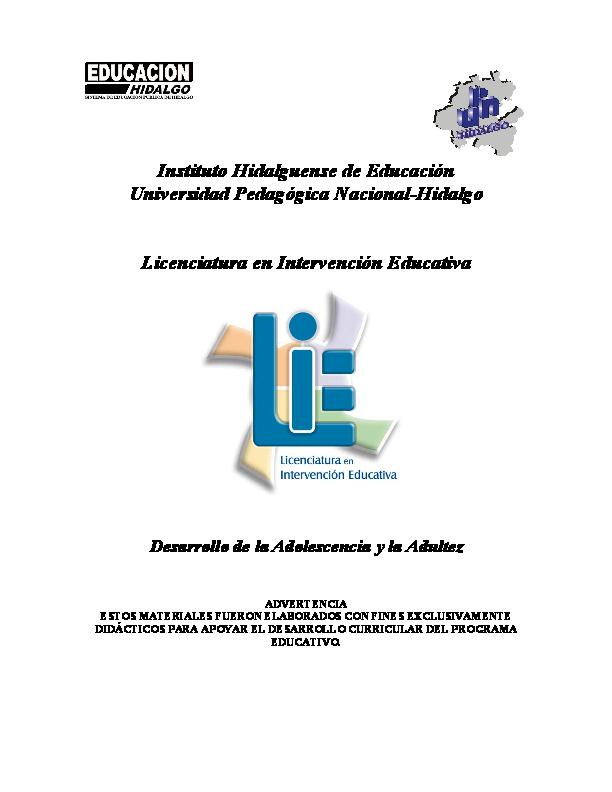 PDF) Desarrollo de la adolescencia y la adultes  f86a650c185