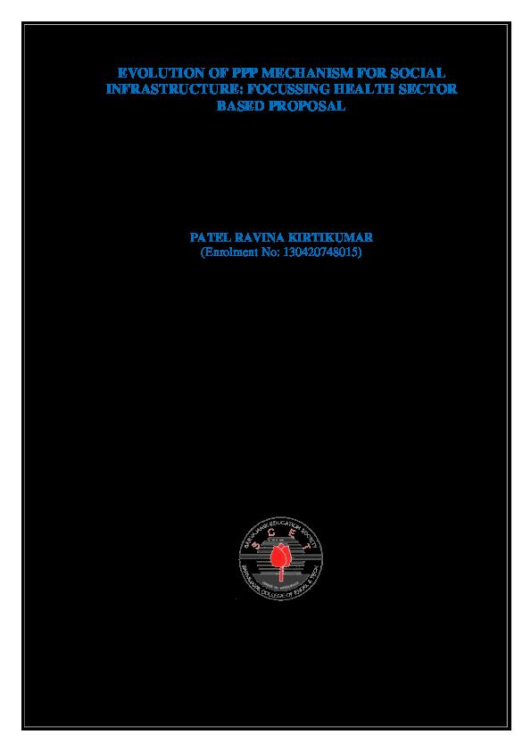 PDF) EVOLUTION OF PPP MECHANISM FOR SOCIAL INFRASTRUCTURE