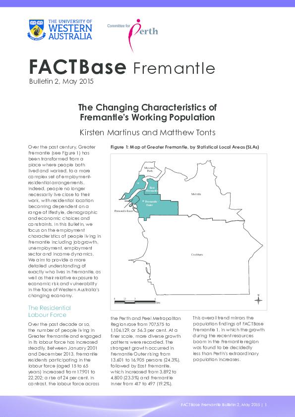 Pdf The Changing Characteristics Of Fremantle S Working Population Kirsten Martinus Academia Edu