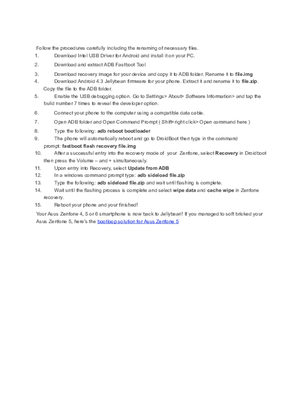 DOC) Downgrade asus zenfone 4,5,6 | Lerevic Binag - Academia edu