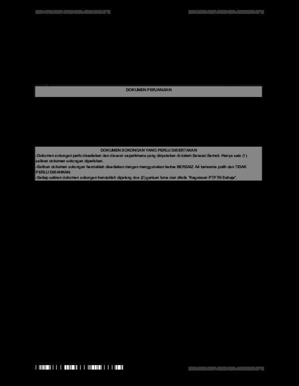 Pdf Semakan Senarai Dokumen Yang Perlu Disertakan Mengikut
