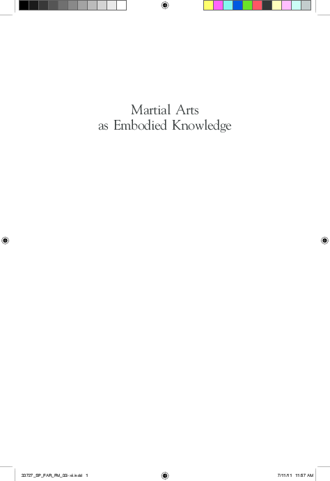 3590c4a123b PDF) Martial Arts as Embodied Knowledge  Asian Traditions in a ...