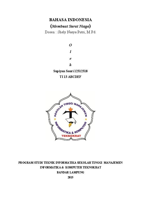 Doc Contoh Kumpulan Surat Niaga Supiyan Sauri Academiaedu