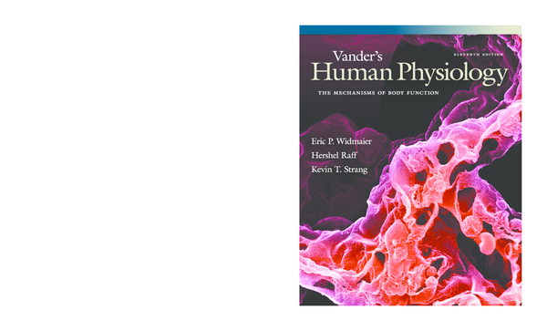 PDF) Vander's Human Physiology - The Mechanisms of Body Function