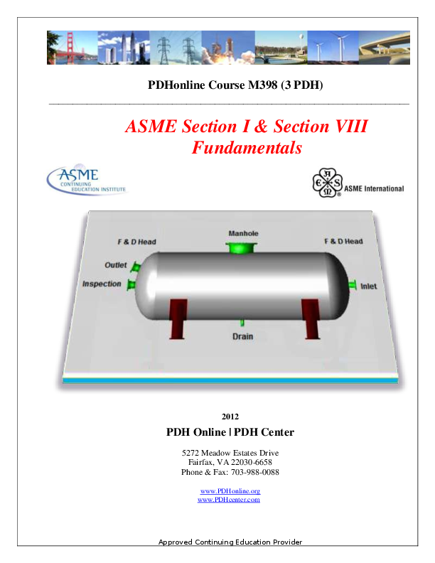 PDF) PDHonline Course M398 (3 PDH) ASME Section I & Section