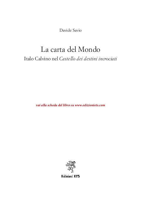 PDF) La carta del Mondo. Italo Calvino nel