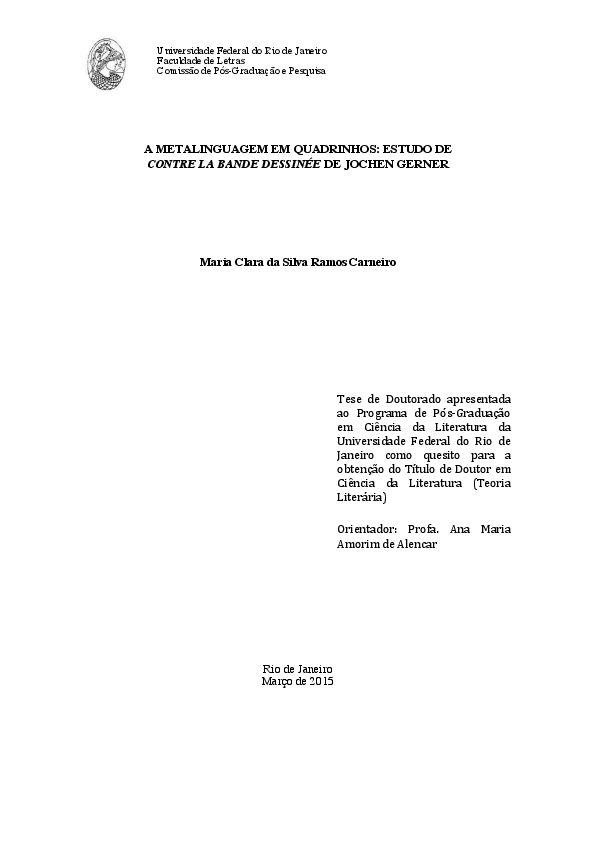 4031d14c3 PDF) TESE  A METALINGUAGEM EM QUADRINHOS  ESTUDO DE CONTRE LA BANDE ...