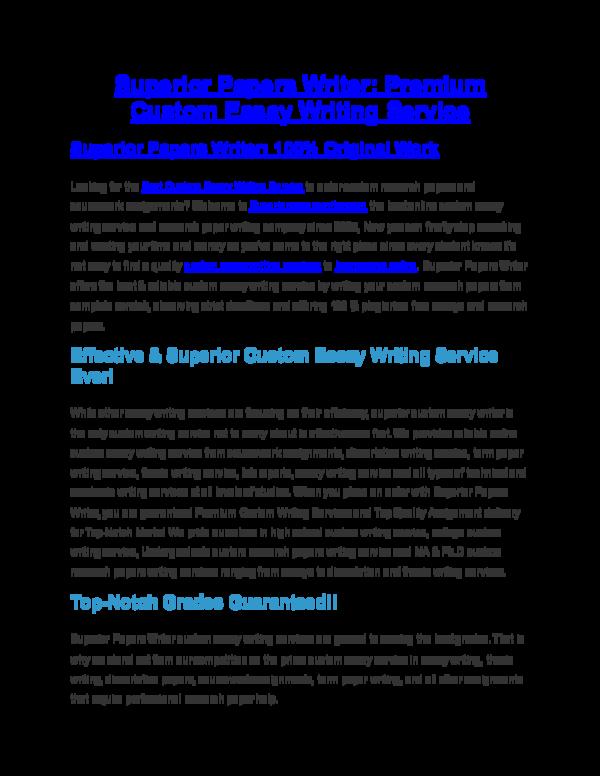 doc superior papers writer premium custom essay and paper