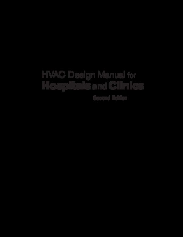PDF) HVAC Design Manual for Hospitals and Clinics Second