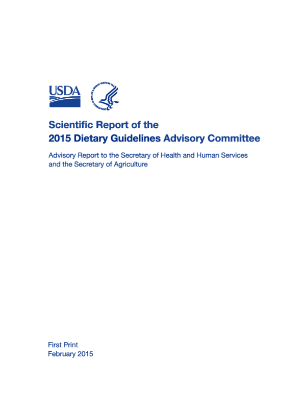 PDF) 2015-Dietary-Guidelines-Advisory-Committee | Rob