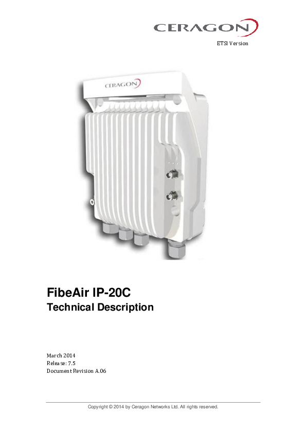 Ceragon FibeAir Innovative Radio System RFU-CXm-E-18-L-TH 18GHz RFU-C