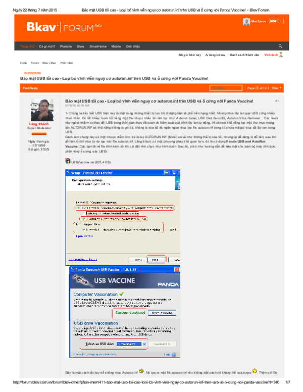 PDF) Bảo mật USB tối cao Loại bỏ vinh viễn nguy cơ autorun