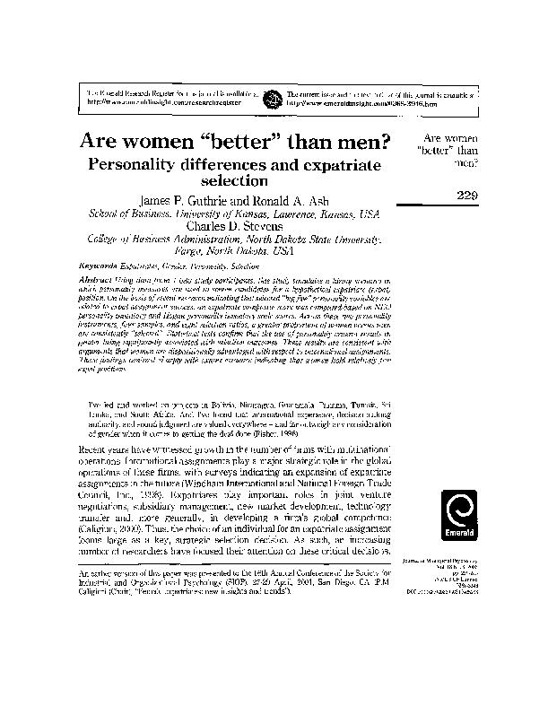 305e875f0972 PDF) Are women