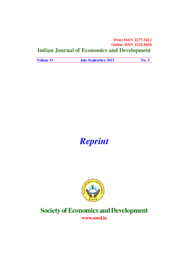 PDF) ACREAGE RESPONSE OF SUGARCANE TO PRICE AND NON-PRICE FACTORS IN