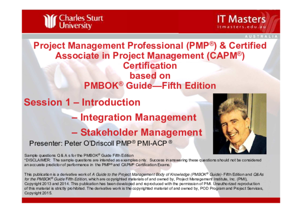 PDF) Project Management Professional (PMP ® ) & Certified