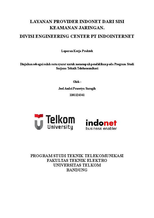 Contoh Laporan Magang Telkom University