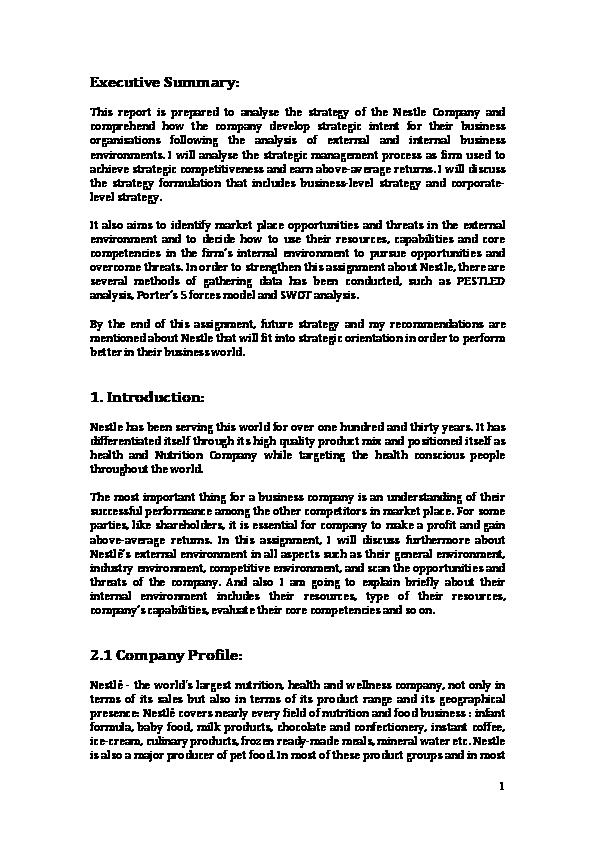 product development process of nestle