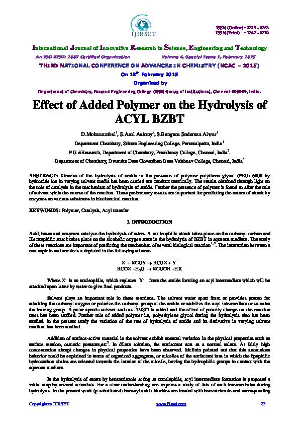 Hydrolysis Of Amides Pdf