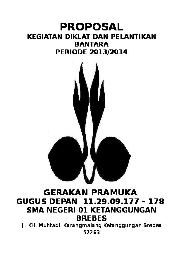Contoh Proposal Kegiatan Pramuka Penegak Bantara