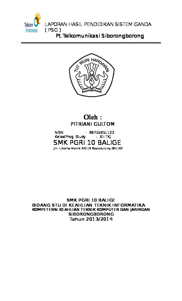 Doc Laporan Psg Program Sistem Ganda Pitriani Gultom Academia Edu