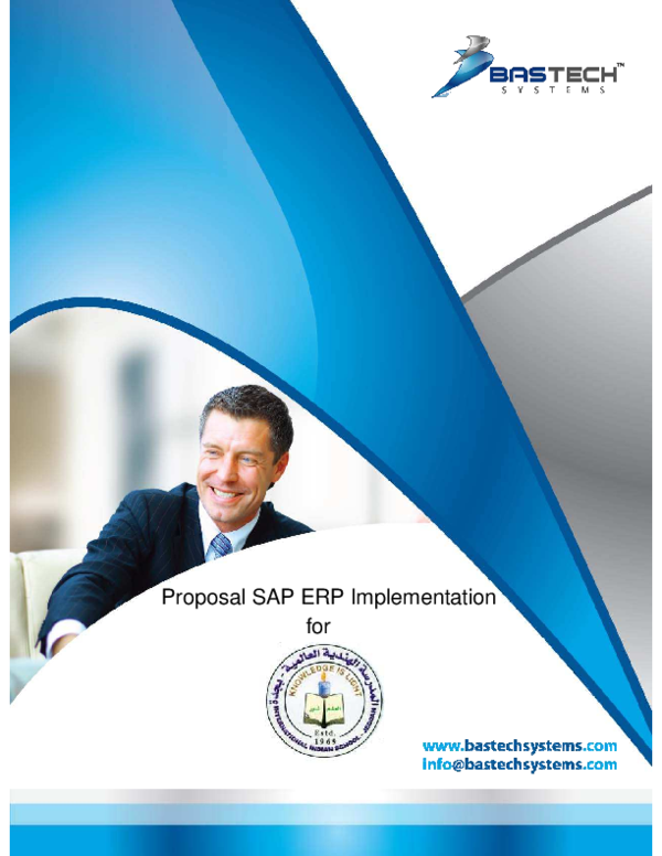 PDF) Proposal SAP ERP Implementation for | Shahinur Islam - Academia edu