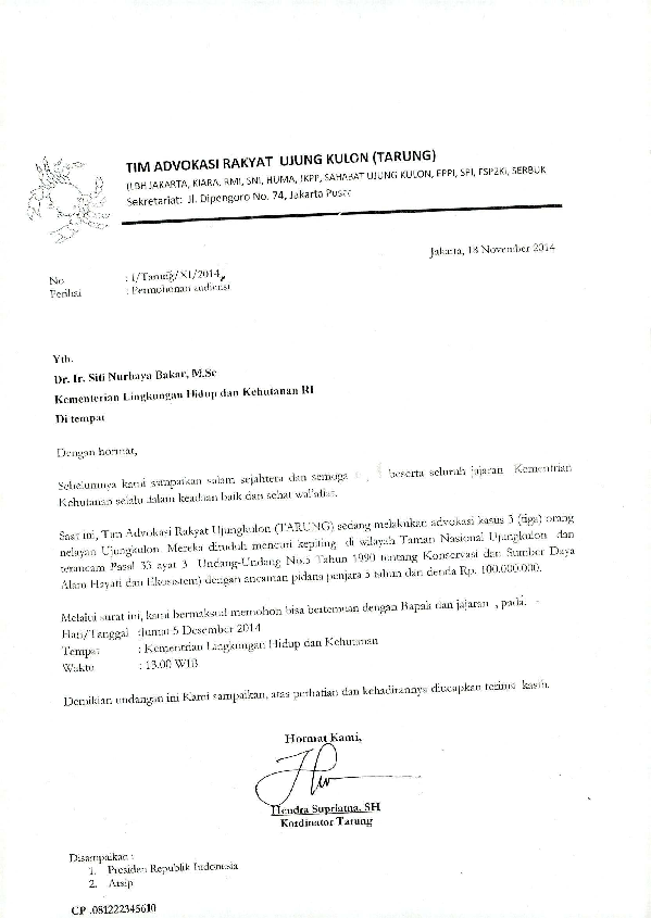 Contoh Surat Permohonan Audiensi Ke Gubernur