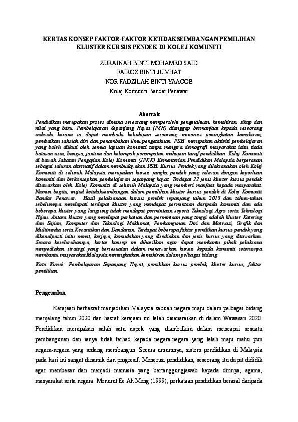 Doc Kertas Konsep Ukm Zu Ms Academia Edu
