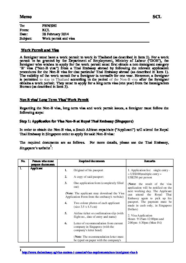 PDF) Work Permit and Visa | Kitja Chananukool - Academia edu