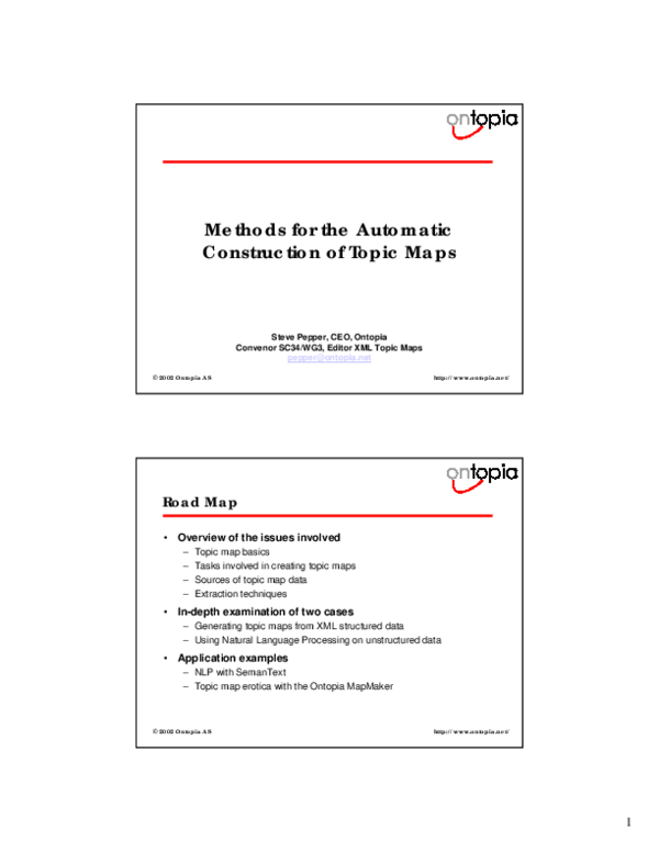 PDF) Methods for the automatic construction of topic maps