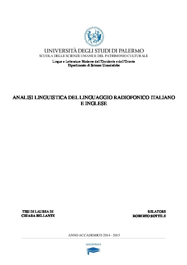 PDF) Analisi linguistica del linguaggio radiofonico italiano e ... 36f6ab2dc3d
