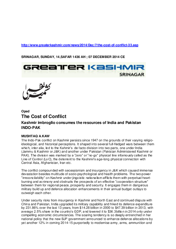 india and pakistan conflict pdf