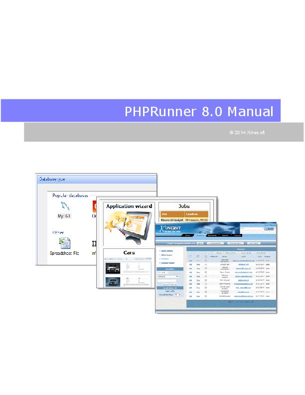 PDF) PHPRunner 8 0 Manual PHPRunner 8 0 Manual I   Miguel
