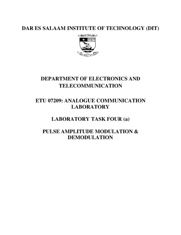PDF) Pulse amplitude modulator   ROMWALD LIHAKANGA