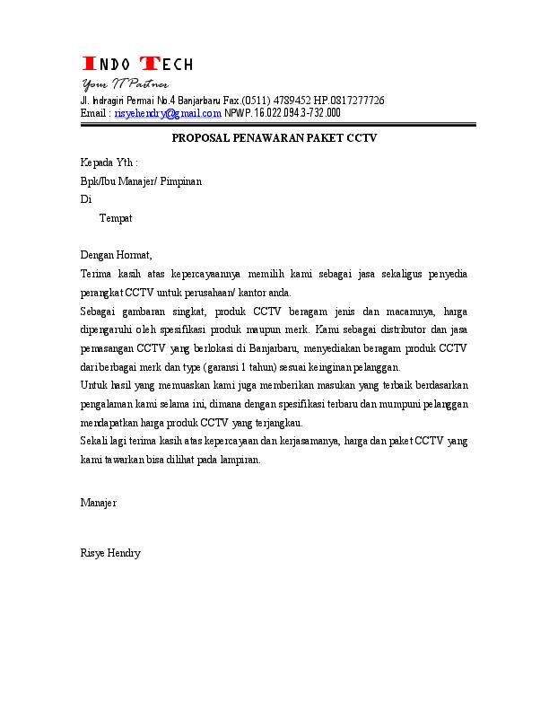 Pdf Penawaran Paket Cctv Idrus Gja Tour Academia Edu