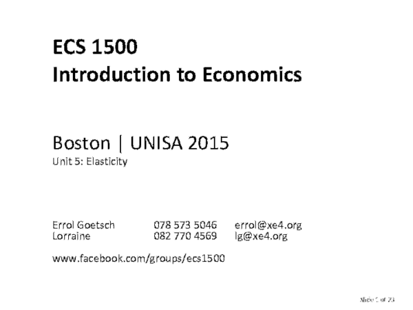 Pdf Intro To Economics Ecs1500 05 Elasticity Errol E Goetsch Academia Edu