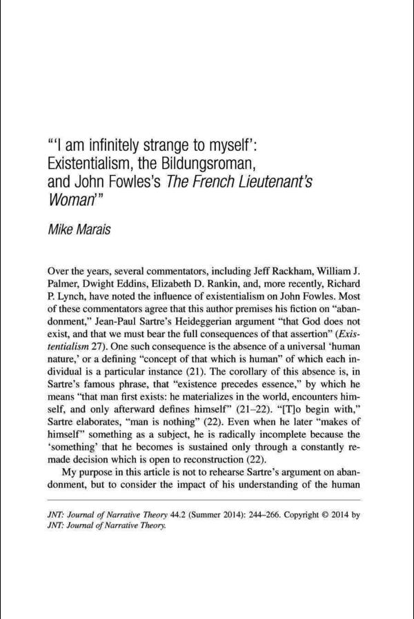 John Fowles The French Lieutenants Woman Pdf