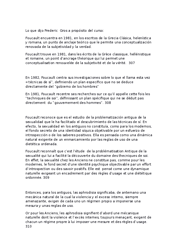 Doc Traducción De Lo Que Dijo Foucault En Su Curso