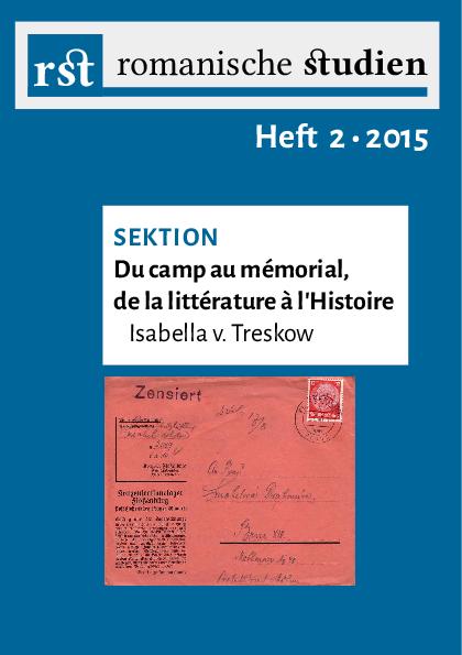 Romanische Studien 2 2015 Kai Nonnenmacher Academiaedu