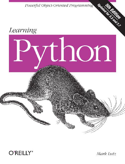 PDF) Learning Python 5th Edition Mark Lutz(www ebook-dl com