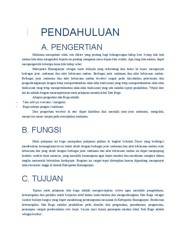 Doc Silabus Tata Boga Kelas 1 6 Sd Erli Herawati Academia Edu