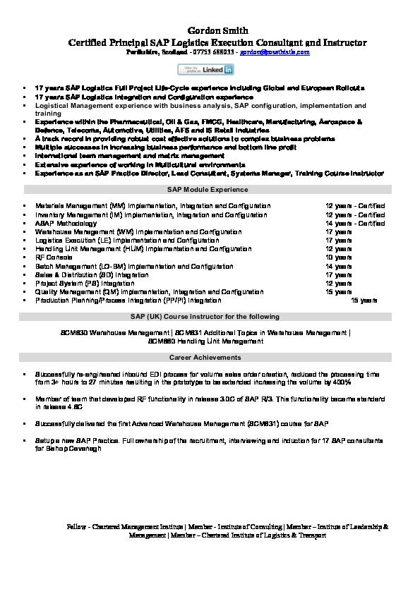 PDF) SAP Module Experience | Anand Kumar - Academia edu