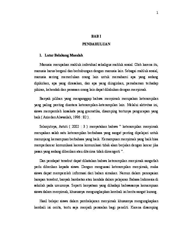 Doc Skripsi Bahasa Indonesia Guru Sd Dani Fam Academia Edu