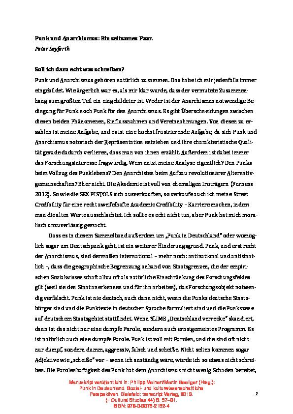 Punk-Dating-Regeln