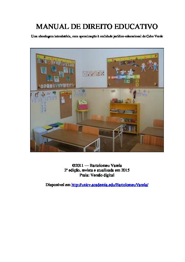 PDF) MANUAL DE DIREITO EDUCATIVO  Uma abordagem introdutória