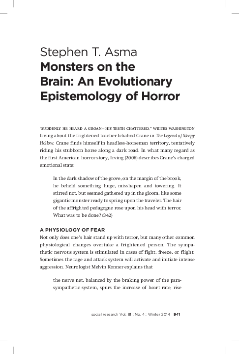 PDF) Monsters on the Brain: An Evolutionary Epistemology of