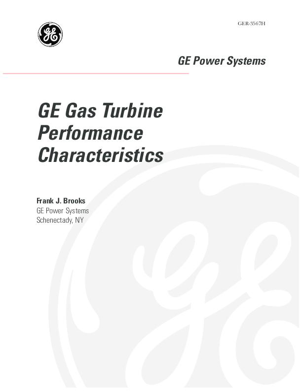 PDF) GE Power Systems GE Gas Turbine Performance