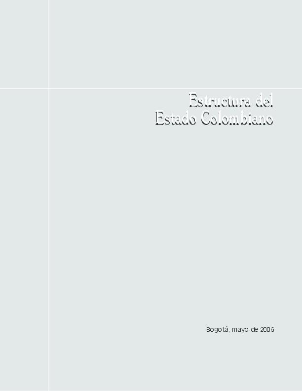 Pdf Manual Estructura Del Estado Colombiano Gerardo